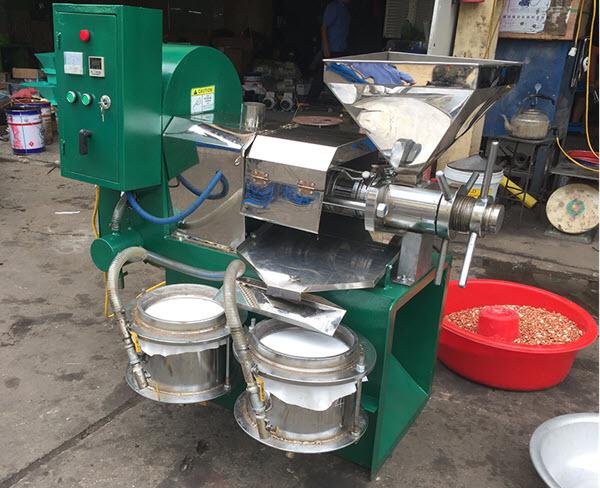 máy ép dầu lạc công nghiệp