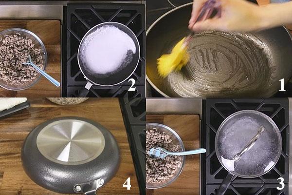 cách làm bánh cuốn nóng bằng chảo