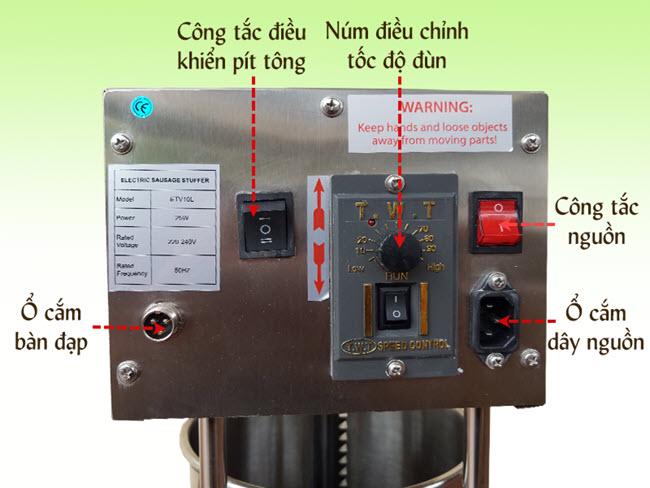 cấu tạo máy đùn xúc xích