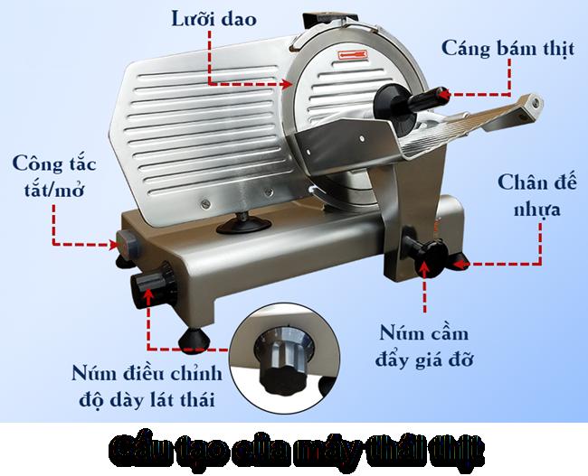 cấu tạo máy cắt thịt lát