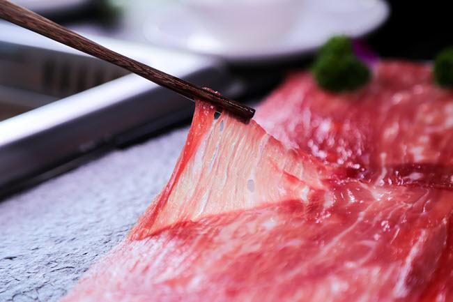 thịt bò thái lát siêu mỏng