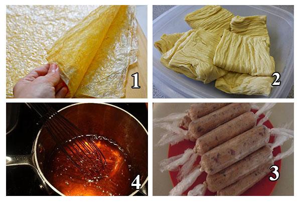 cách làm xúc xích chay