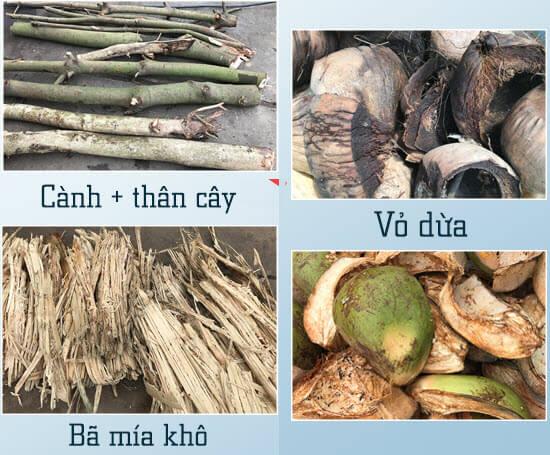 gỗ vỏ dừa bã mía
